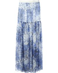Giambattista Valli Abstract Floral Print Maxi Skirt - Lyst