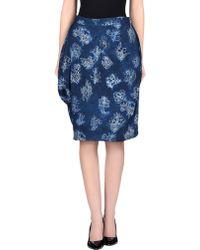 Vivienne Westwood Red Label Knee Length Skirt blue - Lyst