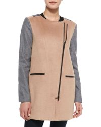 Walter Baker - Erica Panelled Wool Coat - Lyst