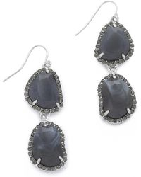 Sam Edelman - Pave Stone Double Drop Earrings - Lyst