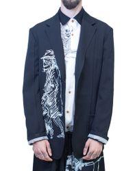 Yohji Yamamoto | Black Yohji Jacket | Lyst