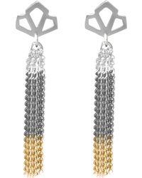 Anna Byers - Geo Long Tassel Earrings - Lyst