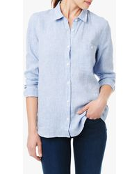 7 For All Mankind Slim Boyfriend Button Up Shirt - Lyst