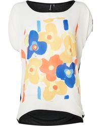 Izabel London Contemporary Floral Print Knit Top - Lyst