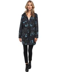 Vera Wang Watercolor Rose Nylon Parka - Lyst
