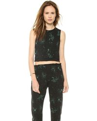 A.L.C. Devoe Crop Top Blackgreen - Lyst