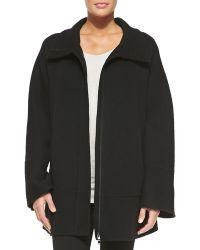 Donna Karan New York Cashmere Coat W/ Hidden Zipper - Lyst