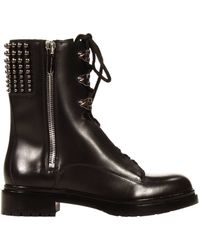 Sergio Rossi Shoes Biker Leather with Details - Lyst