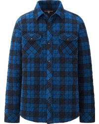 Uniqlo Men Micro Fleece Quilting Long Sleeve Shirt - Lyst
