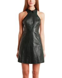 Charlotte Ronson Leather Tea Dress - Lyst