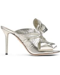 Charlotte Olympia   Bow Lamé Mules   Lyst