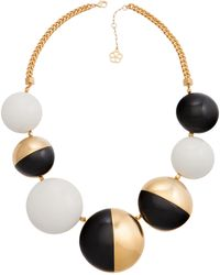 Trina Turk Resin Drama Necklace white - Lyst