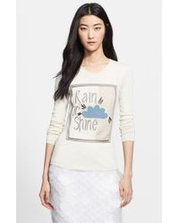 Burberry Prorsum 'Rain Or Shine' Embroidered Sweater beige - Lyst
