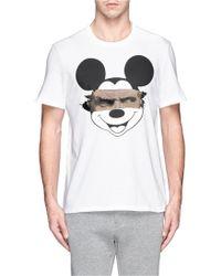 Neil Barrett Mickey Mouse Sculpture Print T-Shirt - Lyst