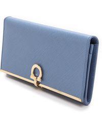 Ferragamo Gancini Icona Continental Wallet - Fleur Bleu - Lyst