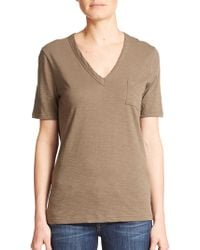 Theory Kovin V-Neck Pocket Tee - Lyst