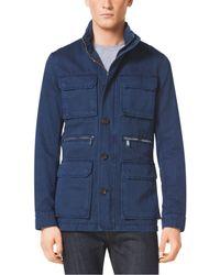 Michael Kors Cotton And Linen Utility Jacket - Lyst