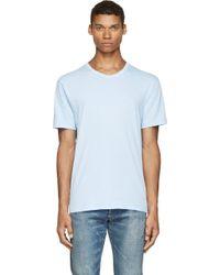 T By Alexander Wang - Blue Pima Cotton T_shirt - Lyst