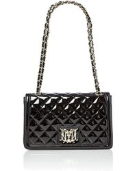 Love Moschino Black Exclusive Patent Quilt Medium Shoulder Bag - Lyst