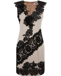 Moschino Cheap & Chic Contrast Lace Dress - Lyst
