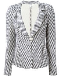 Armani Single Button Jacquard Blazer - Lyst
