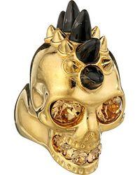 Alexander McQueen Horn Skull Ring - Lyst