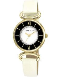 Anne Klein Ladies Gold-Tone Glitz Watch With Two-Tone Dial - Lyst