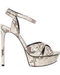 Saint Laurent - Women's Snake Bianca Platform Sandals - Lyst