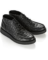 Alexander Wang - Kass Croc Embossed Boot - Lyst