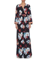 Etro | Printed Silk-Crepe Maxi Dress  | Lyst