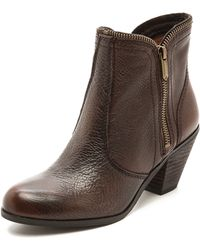 Sam Edelman Linden Zipper Trim Booties  - Lyst
