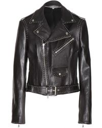 Alexander McQueen Studded Leather Biker Jacket - Lyst