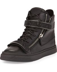 Giuseppe Zanotti Leather High-top Sneaker - Lyst