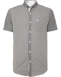 Original Penguin Short Sleeve Gingham Shirt - Lyst