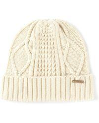 Diesel Aran Knit Hat - Lyst