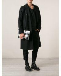Alexander McQueen Black Checked Clutch - Lyst