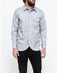 Han Kjobenhavn Army Shirt In Grey gray - Lyst