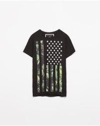 Zara Black Flammable Tshirt - Lyst