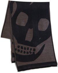 Alexander McQueen Oversized Skull Wool Scarf - Lyst