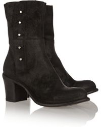Fiorentini + Baker Beth Washed-suede Boots - Lyst