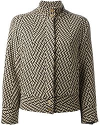 Versace Vintage Patterned Knitted Jacket - Lyst