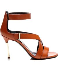 Nicholas Kirkwood Metallicheel Leather Sandals - Lyst