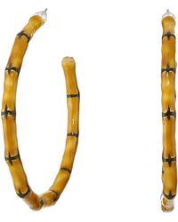Kenneth Jay Lane Large Bamboo Hoop Pierced Earrings - Lyst