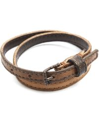 Diesel Abigobbo Brown Faded Bracelet - Lyst
