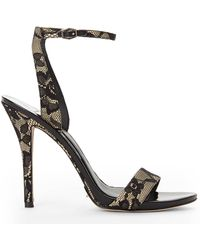 Brian Atwood Nude  Black Catania Lace Pumps - Lyst