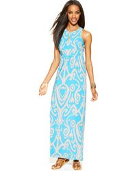 Inc International Concepts Sleeveless Printed Maxi Dress - Lyst