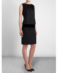 Lanvin Feather Effect Satin Top - Lyst