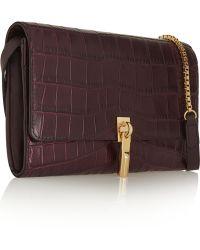 Elizabeth and James - Cynnie Croc-effect Leather Shoulder Bag - Lyst