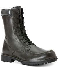 Calvin Klein Gray Ogden Boots - Lyst