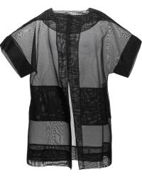 Antonio Berardi Oversized Sheer Short Sleeve Jacket - Lyst